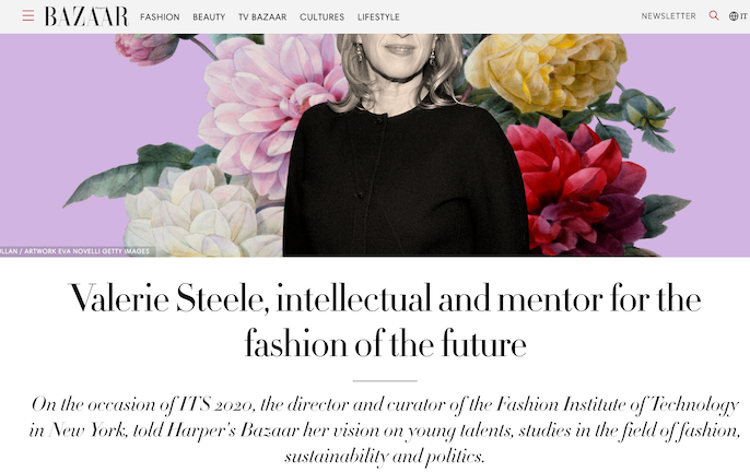 Harper's Bazaar Italia - Valerie Steele, intellectual and mentor for the fashion of the future