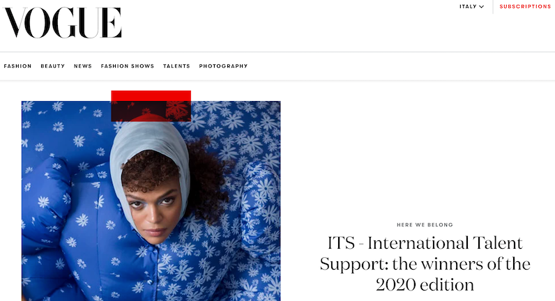 Vogue Italia - ITS - International Talent Support: the winners of the 2020 edition