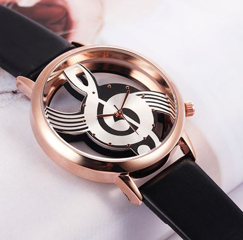 Hollow Musical Note Wristwatch