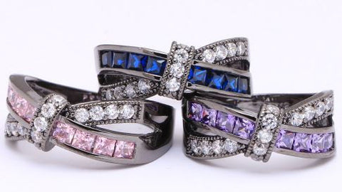Assorted Amethyst Rings - Pink, Blue, Purple