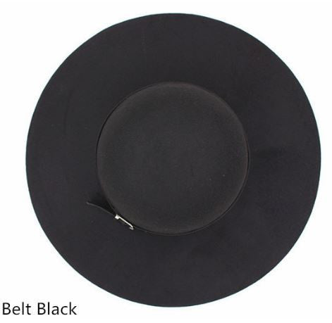 Wide Brimmed Ladies Hat Black