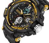 Tactical Sports Watch Black and Yellow Face
