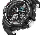 Tactical Sports Watch Black and Silver Face