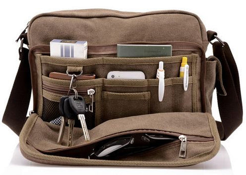 Multi-Purpose Canvas Travel Bag - Open View