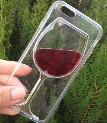 iPhone Red Wine Glass Phone Cover