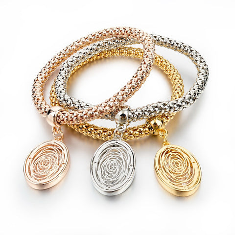 Bangles Gold Plated Chain Bracelet - Ovals