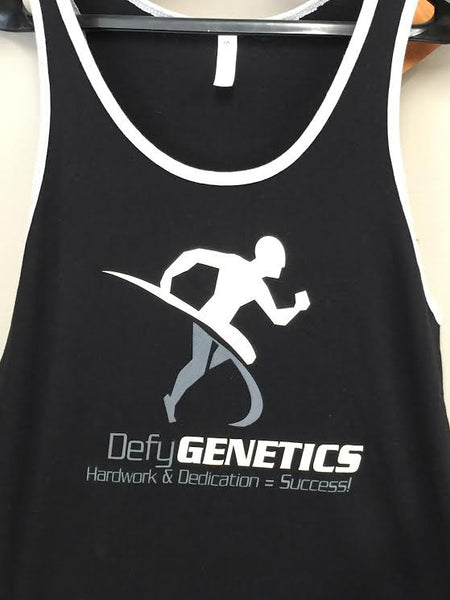 DefyGENETICS Men's Tank Black with grey outline