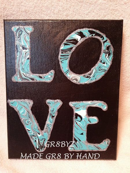 LOVE wall hanging in black by gr8byz