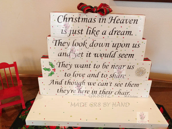 Christmas in Heaven table top display by gr8byz