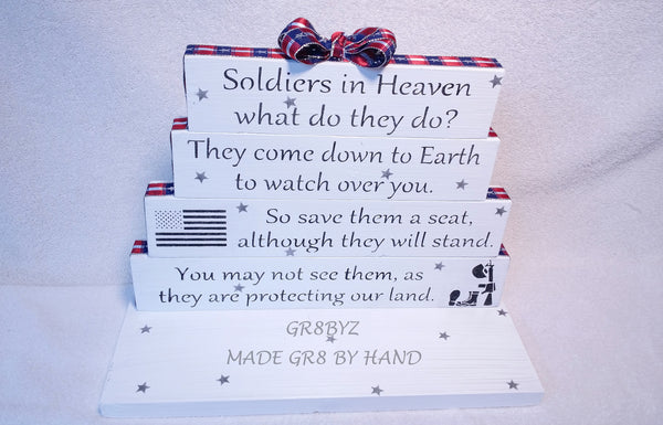 Soldiers in Heaven tabletop display, Fallen heroes, military, Army, Navy, Marine, Air Force, POW, veteran by gr8byz - gr8byz4u.myshopify.com