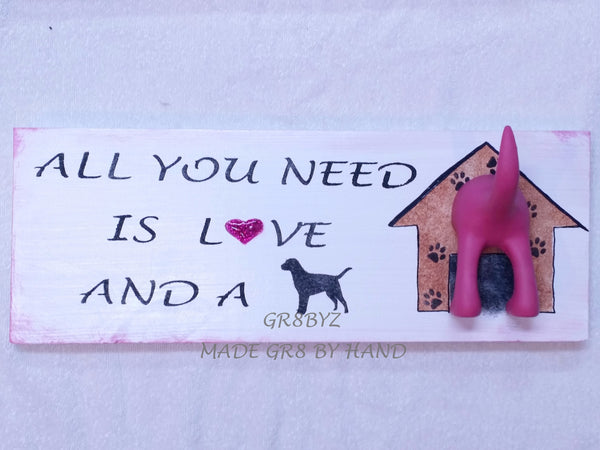 Dog Tail Leash Holder -  Pink by gr8byz - gr8byz4u.myshopify.com