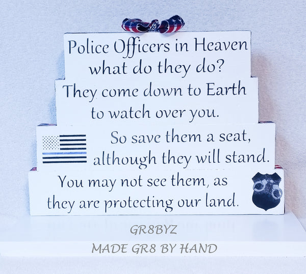 Law Enforcement in Heaven tabletop display, Police, Sheriff, Deputy, Trooper by gr8byz - gr8byz4u.myshopify.com