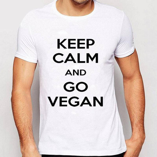 T Shirts Keep Calm And Go Vegan & Chicks Love Vegans Tee