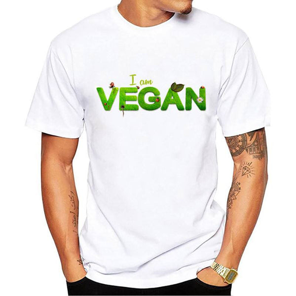 i am vegan printed t shirts hipster cool tops