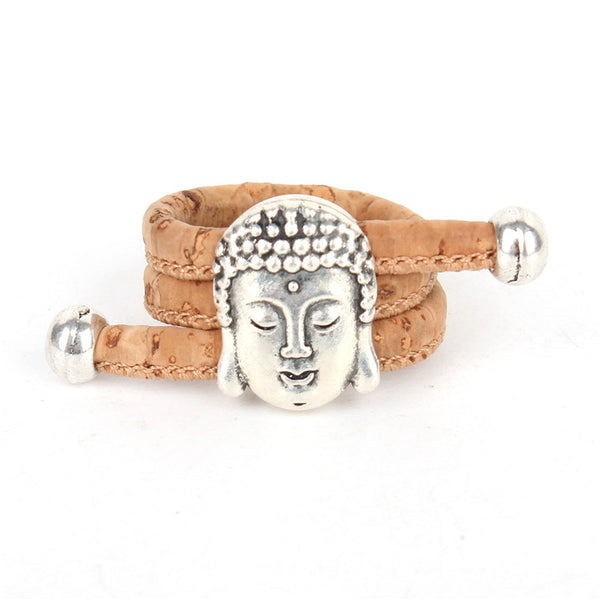 sliver Buddha head  Ring