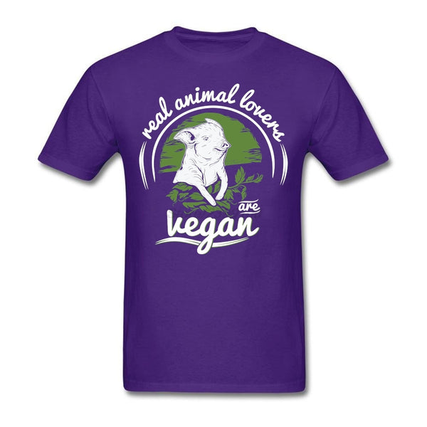Real animal lovers are Vegan Custom Short Sleeve T-shirts