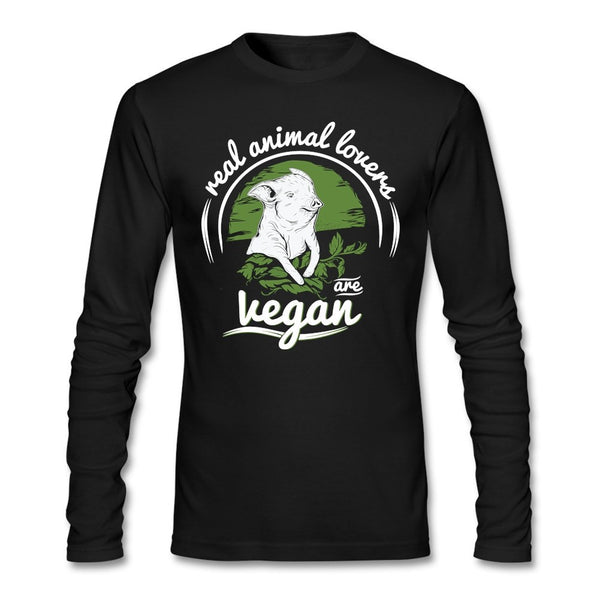 Real animal lovers are Vegan T shirt Long sleeves