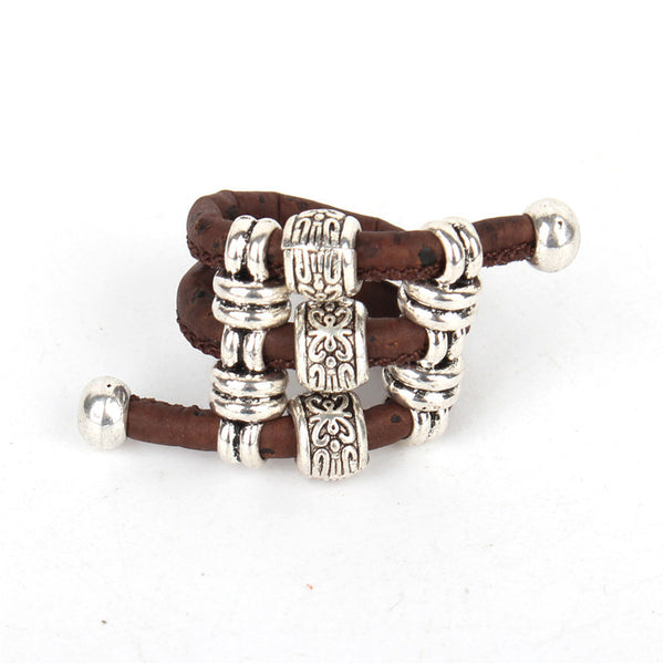 vegan sliver beads Ring jewelry