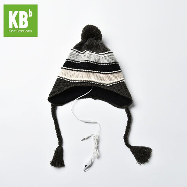 MP3 Knit Unisex Striped Hat Beanie