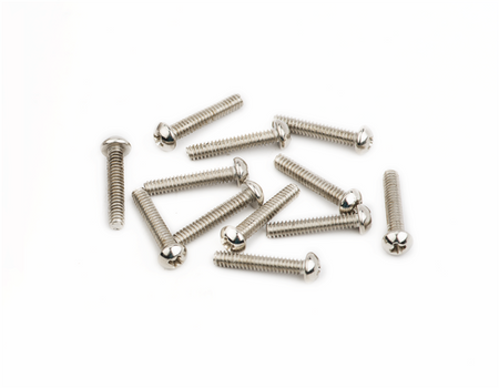 "American Vintage Stratocaster® Saddle Intonation Screws, 4-40 X 5/8"", Nickel (12)"