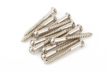 Vintage-Style Stratocaster® Bridge Mounting Screws (12) (Phillips head) (Nickel)