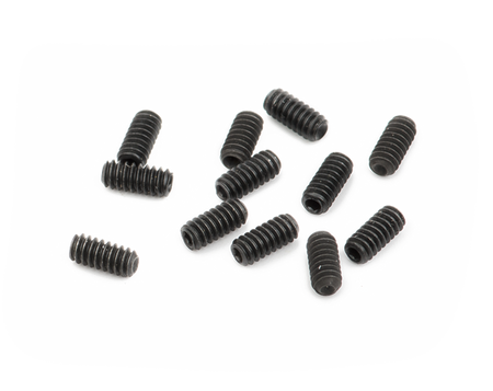 "American Series Guitar Bridge Saddle Height Adjustment Screws (1/4""), Black (12)"