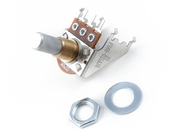 250K Audio Taper Snap-In Potentiometer, Solid Shaft