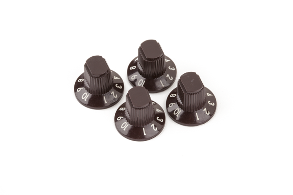 "Acoustasonic™ Series ""1-10"" Amplifier Knobs, Brown w/ White Numbers (4)"