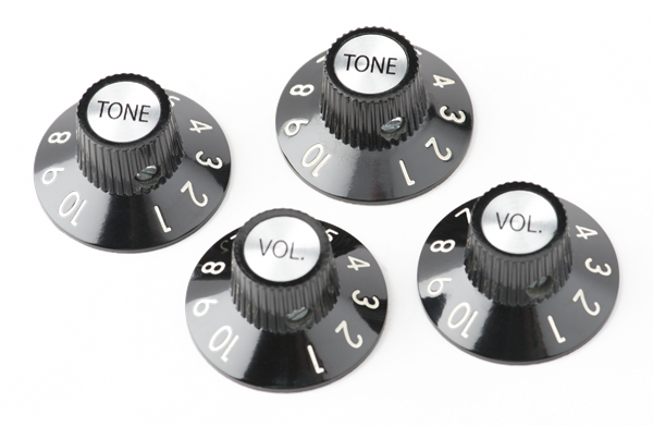 72 Telecaster® Custom Knobs (4), Black