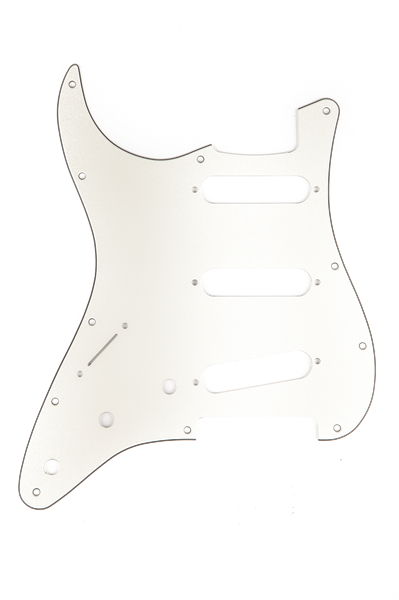 Pickguard American Deluxe Jazz Bass 9 Hole White Pearl