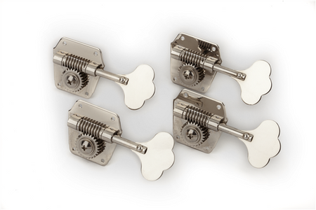Pure Vintage Bass Tuning Machines, Nickel-Plated Steel, (4)