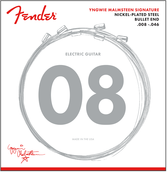 Yngwie Malmsteen Signature Electric Guitar Strings, .008-.046 Gauges, Nickel-Plated Steel