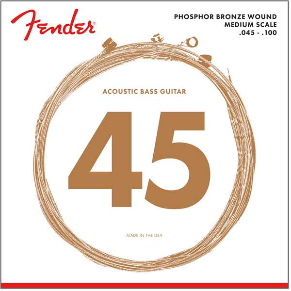 7060 Acoustic Bass Strings, Phosphor Bronze, .45-.100 Gauges, (4)