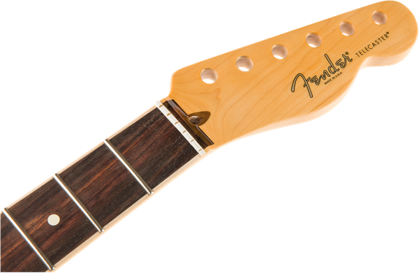 American Channel Bound Telecaster® Neck, 21 Med Jumbo Frets, Rosewood