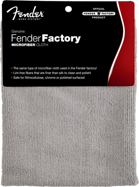 Fender® Factory Microfiber Cloth, Gray