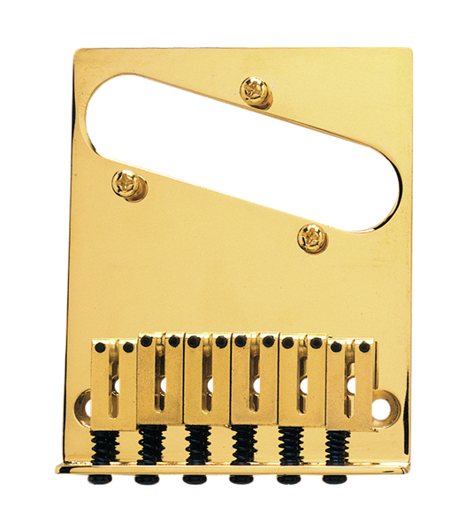 6-Saddle American Series Telecaster® Bridge Assembly (Gold)