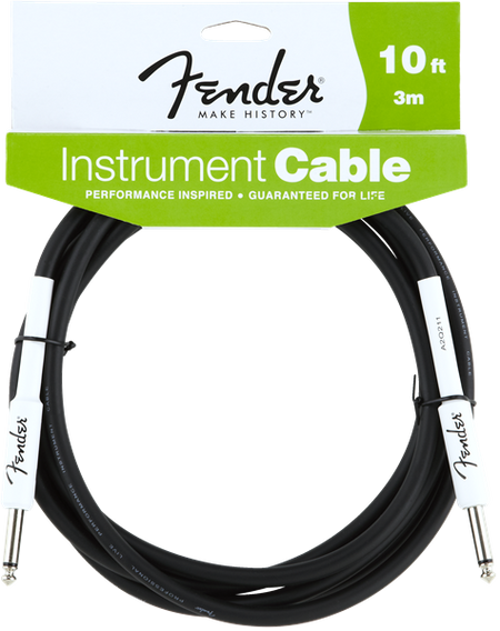 Fender® Performance Series Instrument Cable, 10', Black