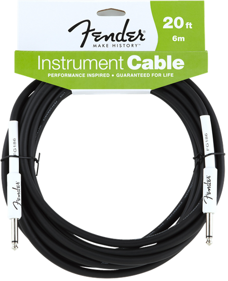 Fender® Performance Series Instrument Cable, 20', Black