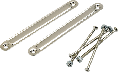 Pure Vintage Large Chassis Straps, (2), Nickel