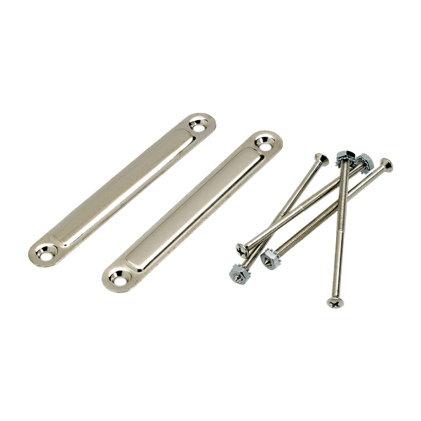 Pure Vintage Medium Chassis Straps, (2), Nickel