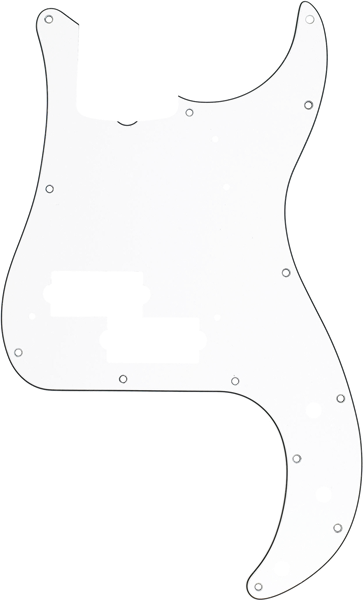 Pickguard, Precision Bass® 13-Hole Vintage Mount (with Truss Rod Notch), White, 3-Ply