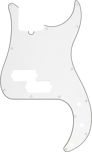 Pickguard, Precision Bass®, 13-Hole Mount (with Truss Rod Notch), Parchment, 3-Ply