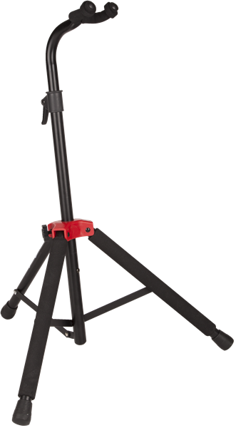 Fender® Deluxe Hanging Guitar Stand, Black/Red