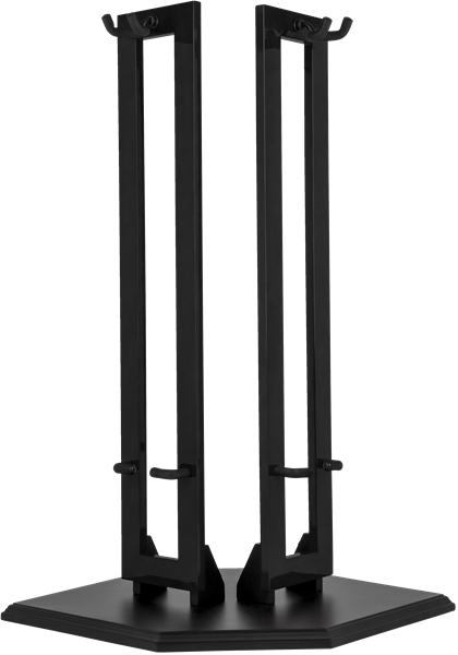 Fender Hanging Wood Double Guitar Stand, Black