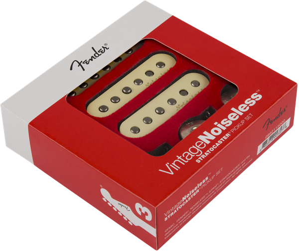Fender® Vintage Noiseless™ Strat® Pickups, (3), Aged White