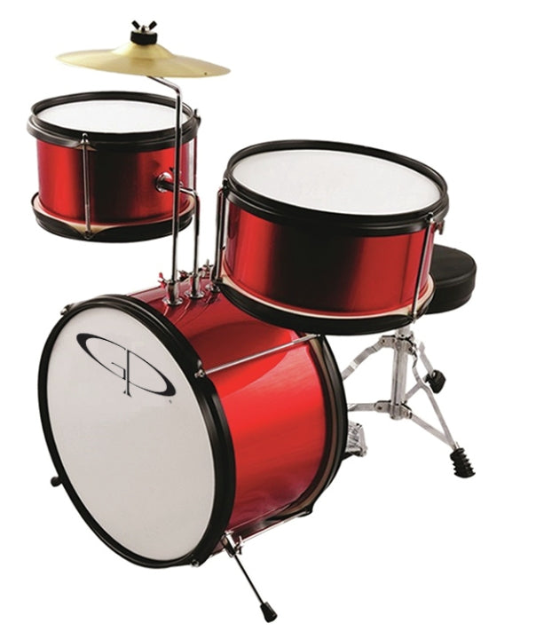 GP GP40RD 3 Piece Junior Drum Set in Red