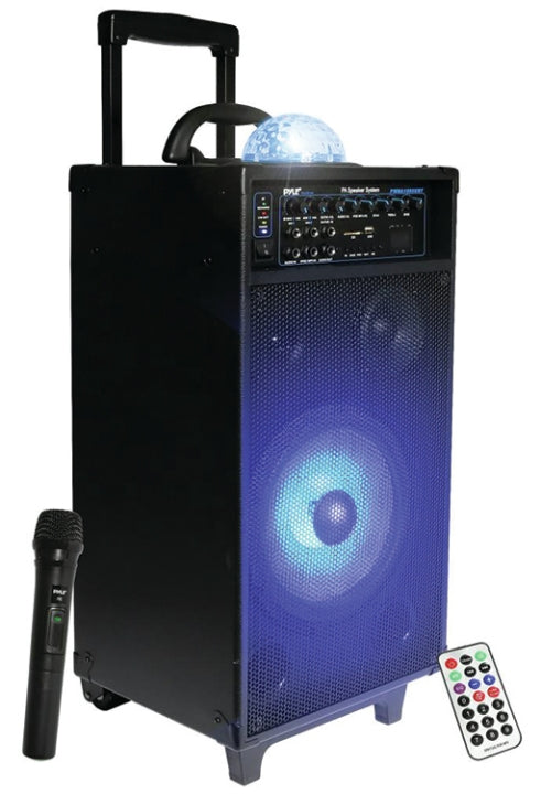 Pyle Pro PWMA1095UBT Portable BT PA Speaker System with Lights