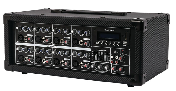 Blackmore Powered 8 Channel Mixer Bluetooth MP3