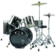 "GP Percussion ""Performer"" 5 Piece Full Size Drum Set - GP200SV"