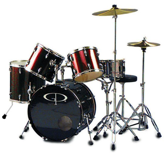 "GP Percussion ""Performer"" 5 Piece Full Size Drum Set - GP200WR"